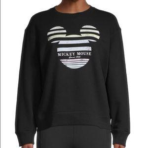 NWT- DAVID LERNER Striped Mickey Mouse Sweatshirt